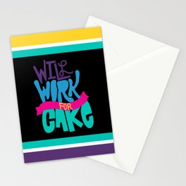 Cake Is The Greatest Motivator Stationery Cards