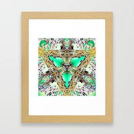Emerald Key Framed Art Print
