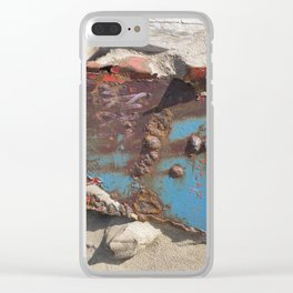 COLLAGE OF DECAY Clear iPhone Case