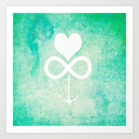 Love Forever Anchored Art Print