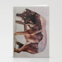 andreas preis Stationery Cards featuring Wolf by Andreas Lie