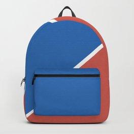 Fire Red & Mild Blue - oblique Backpack