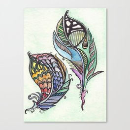 Two Feathers Canvas Print