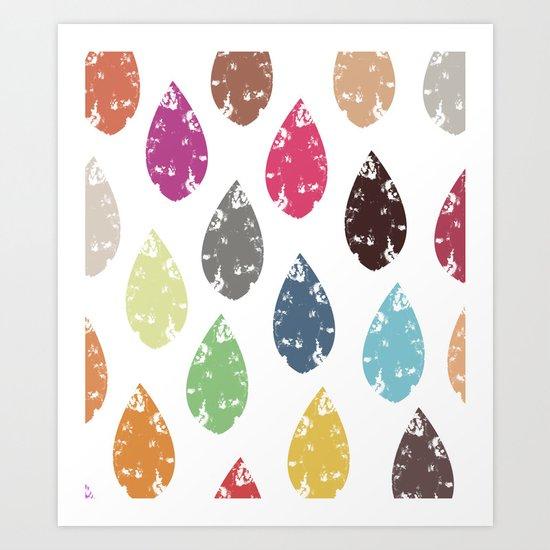 Colorful leaf Art Print