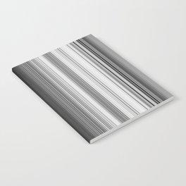 Black White Gray Thin Stripes Notebook