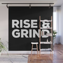 Rise & Grind Gym Quote Wall Mural