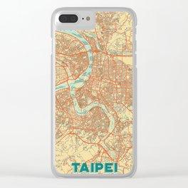 Taipei Map Retro Clear iPhone Case