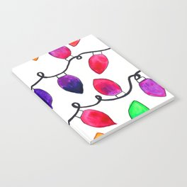 Colorful Christmas Holiday Light Bulbs Notebook