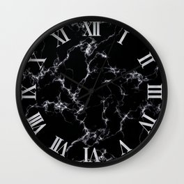 Elegant Marble style4 - Black and White Wall Clock