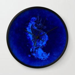 Seahorse Illustration Wall Clock
