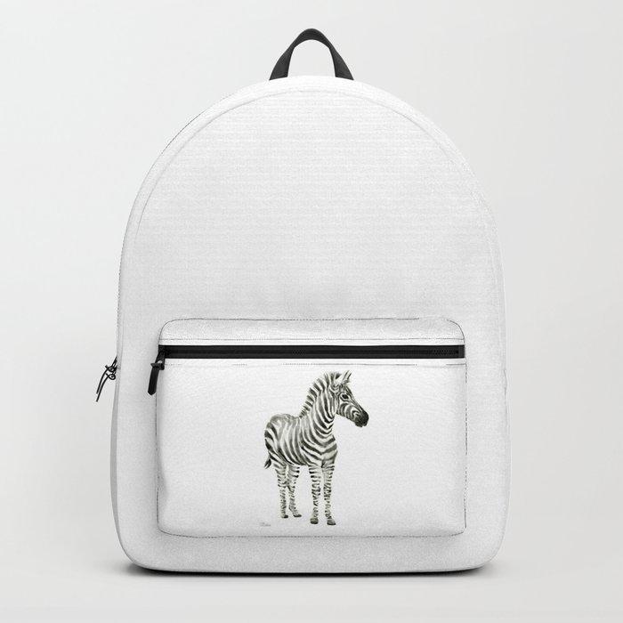 Zebra Watercolor Baby Animals Backpack