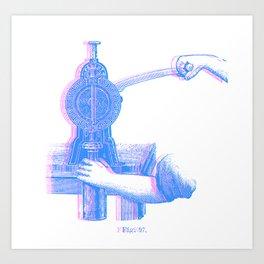 wine culture risograph effect Art Print