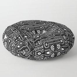 Black Primal Floor Pillow