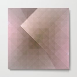 Blush Folded Star Metal Print