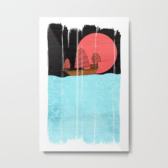 Oriental Sailing Metal Print