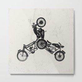4 wheels Metal Print
