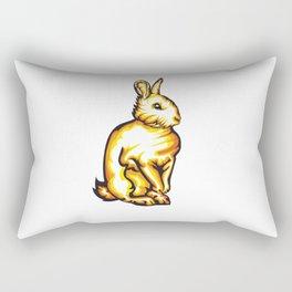 Angry Bunny Rectangular Pillow