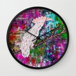 COCKATOO ISLAND (pink) Wall Clock