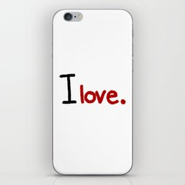 I love - Red iPhone Skin