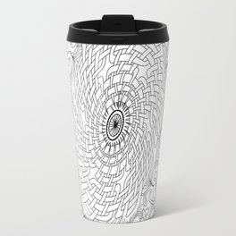 Celtic Knot Mandala Black & White Travel Mug