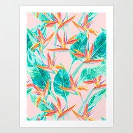Birds of Paradise Blush Art Print