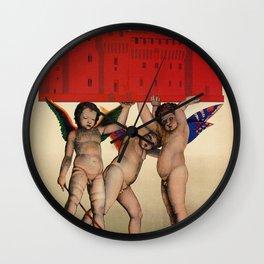 Mantova travel and cherubs Wall Clock