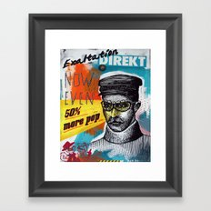 50% more pop Framed Art Print