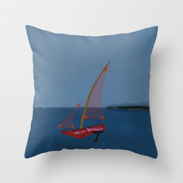 Racing in May with May - shoes stories Throw Pillow