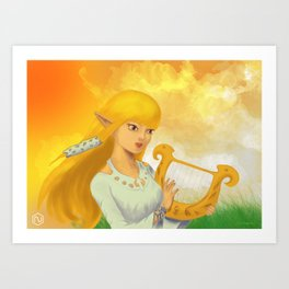 Zelda/Hylia Fanart (Digital Painting) Art Print