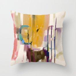 Traveler Among the Spires Throw Pillow