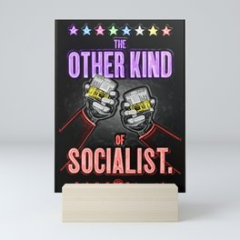 """Vintage """"The Other Kind of Socialist"""" Alcoholic Lithograph Advertisement in multi-colors Mini Art Print"""