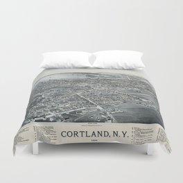 Cortland - New York - 1894 Duvet Cover