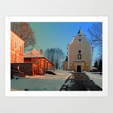 The village church of Berg bei Rohrbach I | architectural photography Art Print
