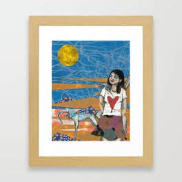 Lauren in town Framed Art Print