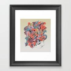 Graffiti Head Framed Art Print