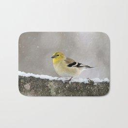 Winter Goldfinch Bath Mat