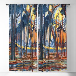 Piet Mondrian Woods near Oele Blackout Curtain