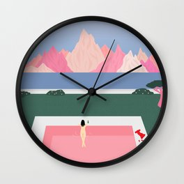 Poolside Views Wall Clock