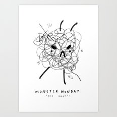 Monster Monday / the knot Art Print