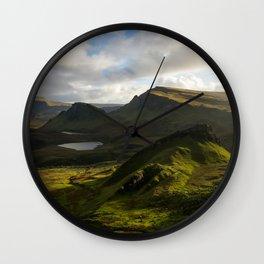 Sunset on Quiraing I Wall Clock
