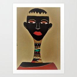 Ebony and Ivory Crown Art Print