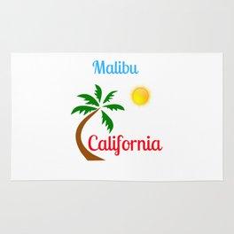 Malibu California Palm Tree and Sun Rug