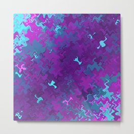 Pink, Purple, and Blue Waves Metal Print