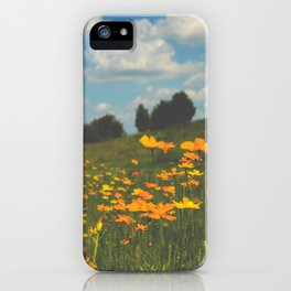 Dreaming in a Summer Field iPhone Case