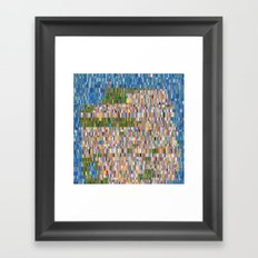 San Francisco Map Collagescape Framed Art Print