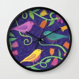 Night Birds Wall Clock