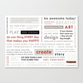 100 Wednesday Manifesto Canvas Print