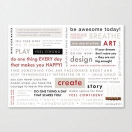 100 Wednesday Manifesto Canvas Print