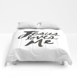 Jesus Loves Me Comforters