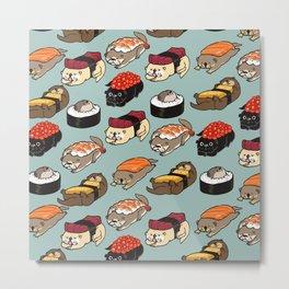 Sushi Otter Metal Print